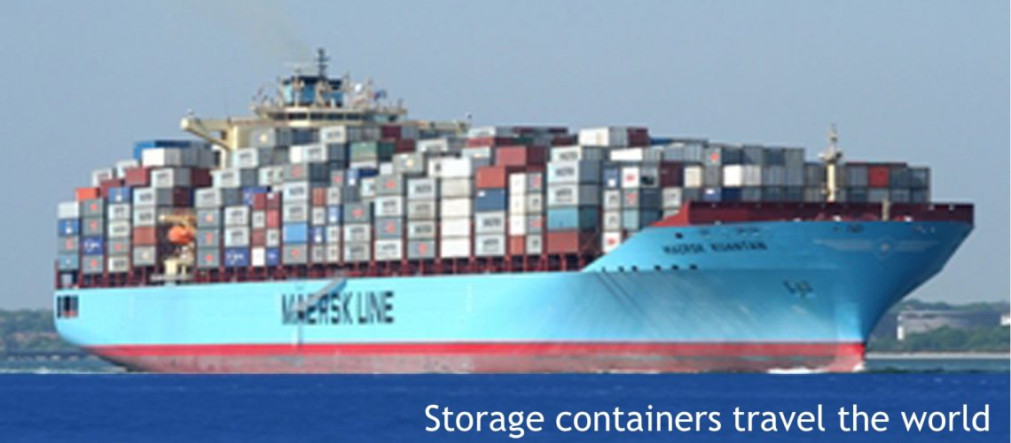 shipping containers travel the world